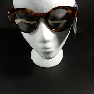 Foster Grant Brown Spotted Cat Eye Sunglasses